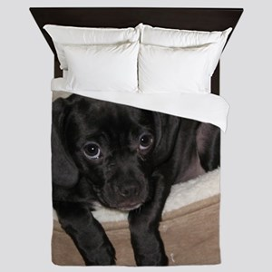 Jewel the Puggle puppy Queen Duvet