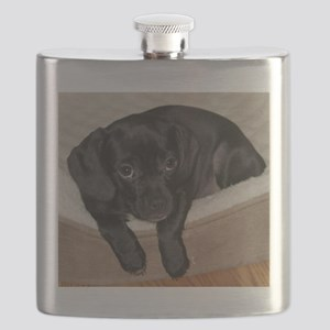 Jewel the Puggle puppy Flask