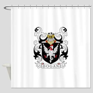 Bogan Family Crest Shower Curtain