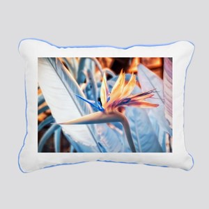 Strelitzia in Infrared Rectangular Canvas Pillow