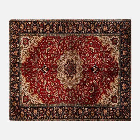 Persian Rug Red and Gold