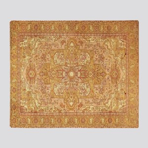 Antique Agra Indian Persian Style Rug Throw Blanke