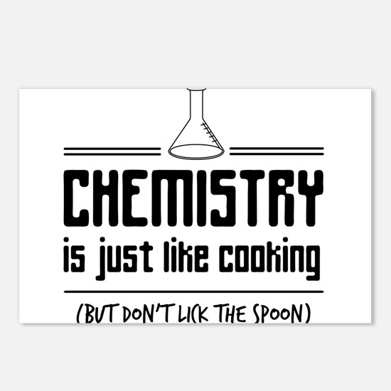 chemistry is like cooking Postcards (Package of 8)