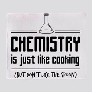 chemistry is like cooking Throw Blanket