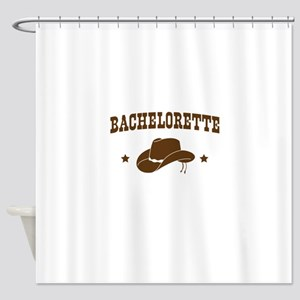 Cowgirl Bachelorette Shower Curtain