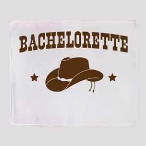 Cowgirl Bachelorette Throw Blanket