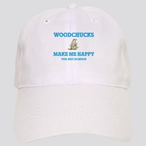 Woodchucks Make Me Happy Cap