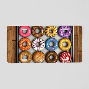 Box of Doughnuts Aluminum License Plate