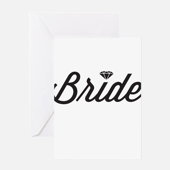 Diamond Bride Greeting Cards
