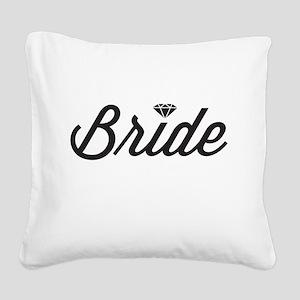 Diamond Bride Square Canvas Pillow