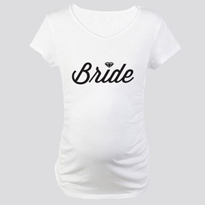 6aa52ce8cc228 Funny Bride And Groom Maternity T-Shirts - CafePress