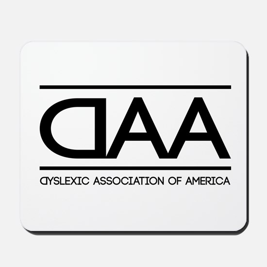 DAA dyslexic association of america Mousepad