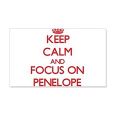 Keep Calm and focus on Penelope Wall Decal