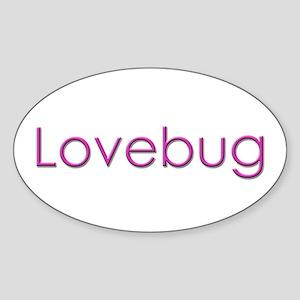 Lovebug Oval Sticker