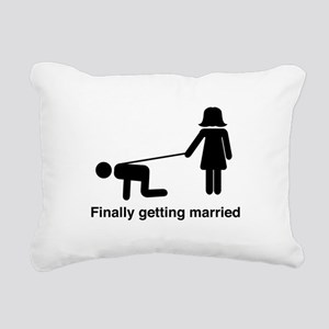 Finally Getting Married Rectangular Canvas Pillow