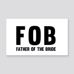FOB Father of the Bride Rectangle Car Magnet