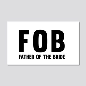 FOB Father of the Bride Wall Decal