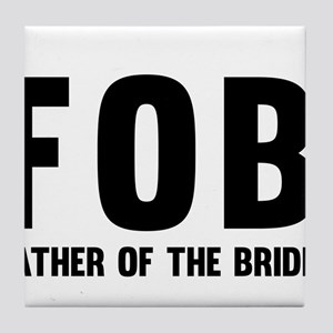 FOB Father of the Bride Tile Coaster