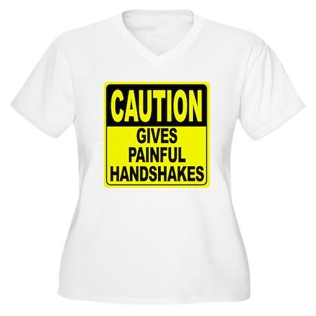 Gives Painful Han Women's Plus Size V-Neck T-Shirt