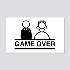 Marriage = Game Over Wall Decal