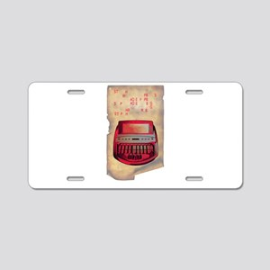steno junkie Aluminum License Plate