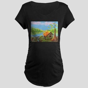 Sitting in the Morning Sun Maternity Dark T-Shirt