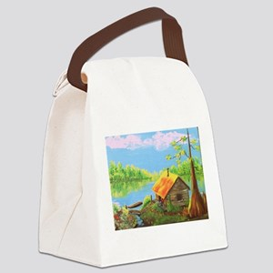 Sitting in the Morning Sun Canvas Lunch Bag