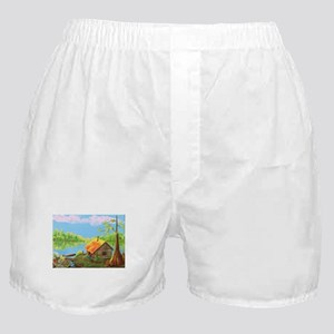 Sitting in the Morning Sun Boxer Shorts