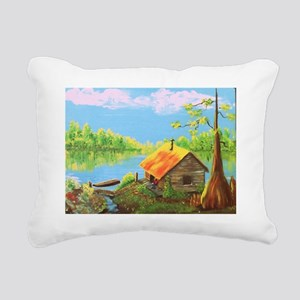 Sitting in the Morning S Rectangular Canvas Pillow