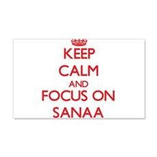 Keep Calm and focus on Sanaa Wall Decal