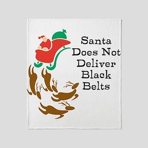 Black Belt Santa Throw Blanket
