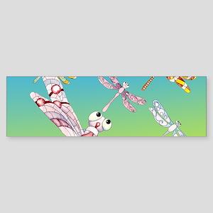 Dragonflies Sticker (Bumper)