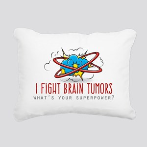 I Fight Brain Tumors Rectangular Canvas Pillow