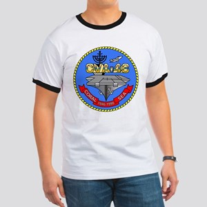 Personalized USS Coral Sea CV-43 Ringer T