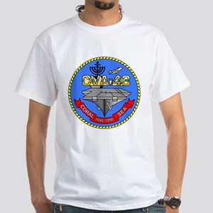 Personalized USS Coral Sea CV-43 White T-Shirt