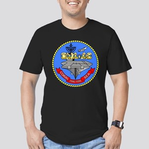 Personalized USS Coral Men's Fitted T-Shirt (dark)