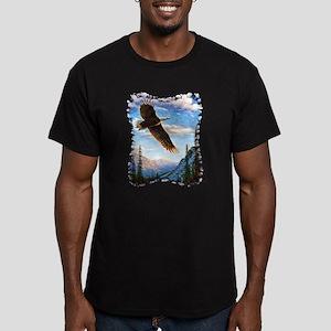 Soaring Bald Eagle Men's Fitted T-Shirt (dark)
