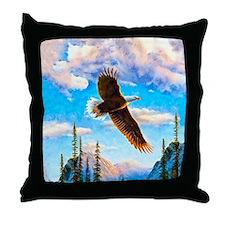 Soaring Bald Eagle Throw Pillow