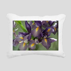 Cascade Purple Iris Rectangular Canvas Pillow
