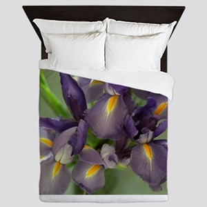 Cascade Purple Iris Flower Photo Queen Duvet