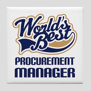 Procurement manager Tile Coaster