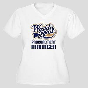 Procurement manag Women's Plus Size V-Neck T-Shirt