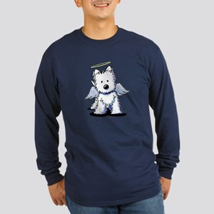 Westie Angel Long Sleeve Dark T-Shirt