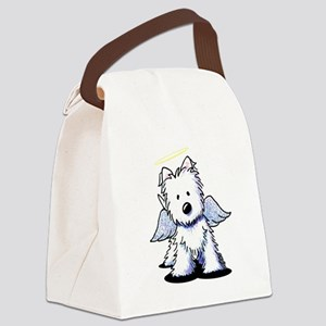 Westie Angel Canvas Lunch Bag