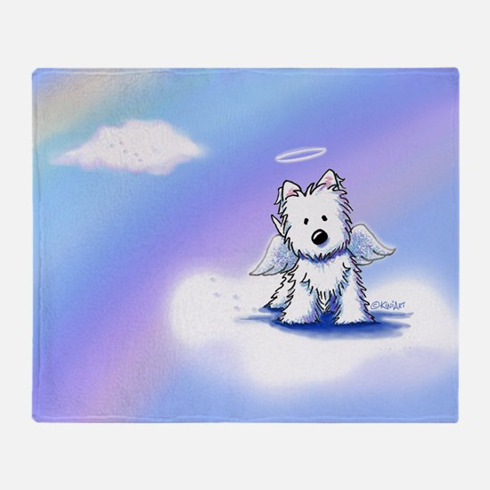 Rainbow Bridge Westie Throw Blanket