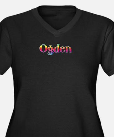 Ogden Women's Plus Size V-Neck Dark T-Shirt