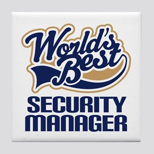 Security manager Tile Coaster