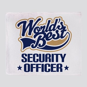 Security officer Throw Blanket
