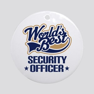 Security officer Ornament (Round)