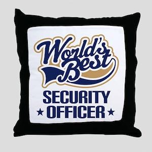 Security officer Throw Pillow